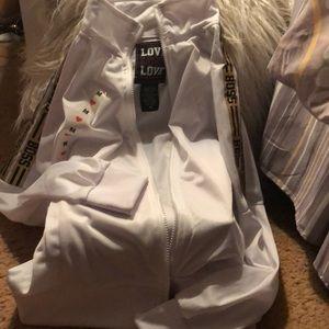 """lovelovelove Jackets & Coats - Lovelovelove brand track jacket with """"boss""""sleeves"""